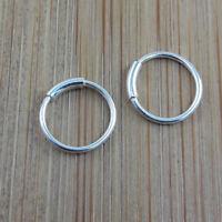 8 mm, 925 Sterling Silver Mini Sleeper Helix Earrings, No Hinged.