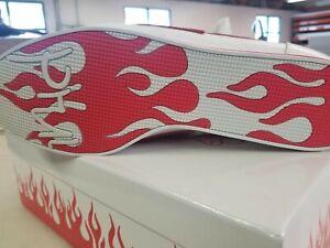 4hunnid Block Runner Flames White/Red Sz 13