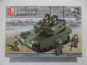 Sluban B0305 Army Tank Merkava Building Blocks Set 344 Pcs, Ages 6+ NEW