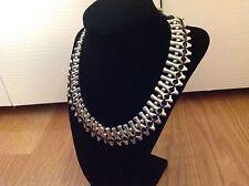 "Necklace 18"" ""Mandala"" $275 Nwt Uno de 50 Silvertone/Leather"