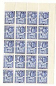 SOMALILAND (S48) SG 108 - Geo Vl 3 annas blue - Corner block 20 - MNH