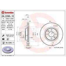 2 Disco freno BREMBO 09.c285.11 coated disc LINE adatto per RENAULT DACIA