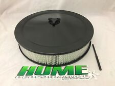 BLACK AIR CLEANER FILTER ASSEMBLY 14X3 RECESSED BASE HOLLEY 5-1/8  68-479