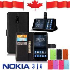 Wallet Leather Card Pocket Flip PU Shockproof Case Cover For Nokia 3 | Nokia 6