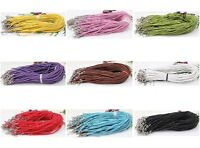 Wholesale 20/50Pcs Leather Braid Rope Hemp Cord For Necklace Lobster Clasp 46cm