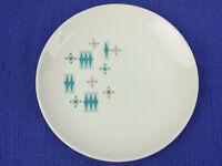 "Sabin Blue Moderne USA23 Salad Plate 6"" Atomic MCM Turquoise Snowflake 50s"