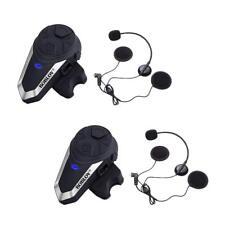 2Sets BOBLOV BT-S3 Motorcycle Bluetooth Intercom FM 1KM Headset Interphone Sport