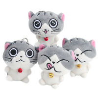 Chic 1pc Cute Cat Plush Doll Toys Stuffed Animal Bolster Key chain Keyring