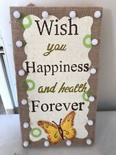 Inspirational Wall Art - Wish You Happiness And Health