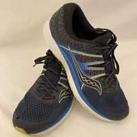 Saucony Mens Omni ISO S20442-1 Blue Black Running Shoes Lace Up Size 12