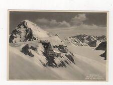 Jungfraujoch Berghaus & Sphinx Switzerland RP Postcard 498a