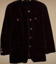 La fábrica de ropa Habsburg janker terciopelo BLAZER chaqueta marrón oscuro 40