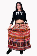 Womens Long Skirts Hippie Casual Skirt Boho Maxi Skirt Rayon Crepe Fabric Skirts