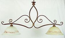 Lampadario antico ferro forgiato illuminazione da interno artigianale art.618