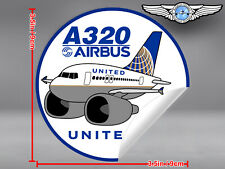 UNITED AIRLINES UAL PUDGY AIRBUS A320 A 320 DECAL / STICKER