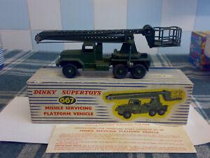 Original dinky No 667 Missile Servicing Platform Vehicle
