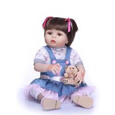 Reborn Baby Doll Girl 23'' Full Vinyl Silicone Newborn Anatomically Correct Bath