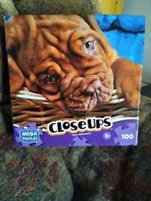 Mega Puzzles Closeups Mega Brands 100 Piece DOG BRAND NEW FACTORY SEALED BOX