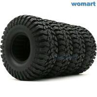 4pcs RC 1.9 Crawler Tires Mud Tyres OD 114mm For 1:10 RC 1.9 Beadlock Wheels Rim