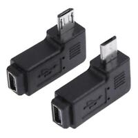 2pcs Right / Left 90 Degree Mini USB Female to Micro USB Male Adapter Connector