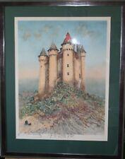 HAMBOURG André- Lithographie originale signée- Le château de val