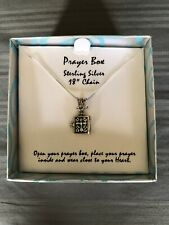 "Prayer Box necklace with Sterling Silver 18"" Chain"