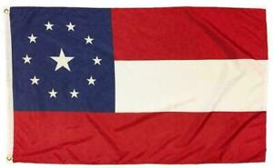 1st National Confederate Flag 3X5 Printed 11 Stars UNITED STATES OF AMERICA CSA