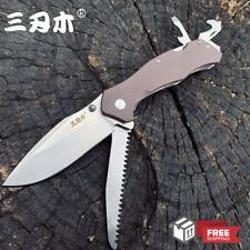 Sanrenmu SRM 9019 Multi-functional tool Pocket Folding Knife 12C27 Steel Blade