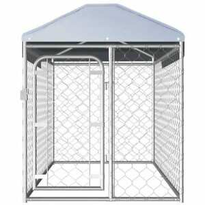 Outdoor Dog Kennel with Roof Lockable latch system Security Safety Cage House