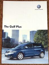 2006-07 VW GOLF PLUS Sales Brochure - Luna SE Sport