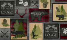 FABRIC QT ~ MOOSE TRAIL LODGE ~ Audrey Jean Roberts (26682 K) by the 1/2 yard