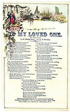 RARE Civil War Soldier  Valentine - Lowe 19th Cavalry NY - Magnus ca 1864 Song