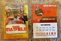 2018 Baker Mayfield Cracked Ice Gold Limited Edition Rookie. Cleveland Browns