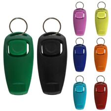 2in1 Training Puppy Dog Clicker Obedience Agility Trainer Pet Whistle Keyring Us