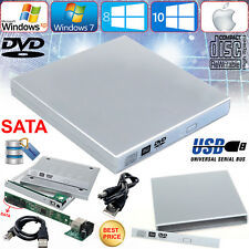 External USB To SATA CD DVD ROM RW Drive Caddy Cover Case For Notebook Laptop PC