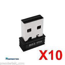 Lot of 10 802.11bgn mini Nano Wireless WiFi USB 2.0 LAN Adapter PL-8188CUS_V2