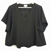 WITCHERY | Womens Black V/Neck Top  [ Size AU 12 or US 8  ]