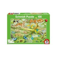 Animals in the Jungle: Schmidt childrens Jigsaw Puzzle 100 piece puzzle age 6 up