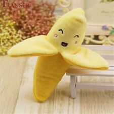 Pet Supply Plush Banana Shape Dog Squeak Sound Toys Fruit Interactive Cat Toy