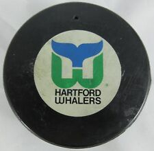 VINTAGE HARTFORD WHALERS INGLASCO OFFICIAL HOCKEY GAME PUCK CANADA NHL w/ Hole
