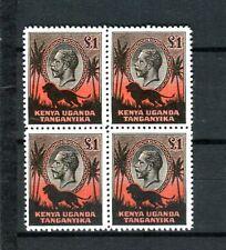 KENYA, UGANDA and TANGANYIKA, 1935 £1 KGV quartblock -Great reprint