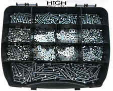 1000 PCS M4 ASSORTED BOLTS NUTS & WASHERS ZINC COATED