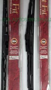 """2X Trico Exact-Fit Windshield Wiper Blade Metal Framed 24"""" & 20"""" L+R Set 02"""