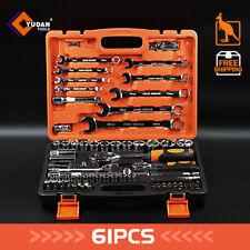 61pcs Mechanic Auto Kit Tool Set Metric Ratchet Wrench Ratchet Handle Socket