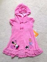 New Pink Disney Minnie Mouse Swimsuit Cover-up ( Girls 2, 3, 4, 5/6 )