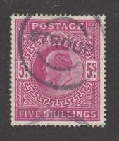 Great Britain stamp #140, used, 1902 - 1911, KEV II  SCV $225.00