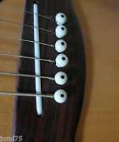 Lot 6 chevilles Set restauration Blanche Lutherie Guitare folk acier Nikel metal