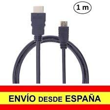 Cable HDMI a Mini HDMI para Smartphone 1.4 Full HD Baño Oro 1 metro a1636