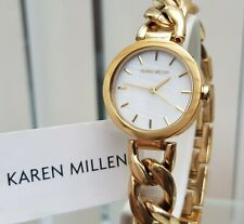 KAREN MILLEN Ladies Watch Chain Bracelet Gold RRP £189 NEW IDEAL GIFT! (KM44