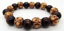 Da uomo braccialetto legno etnica Perline Buddha Braccialetto fatto a mano jewellerytakukai